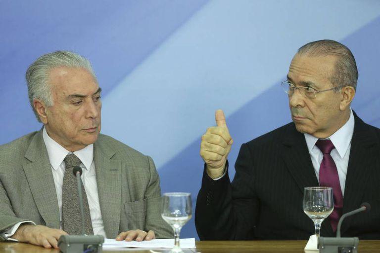 O presidente Michel Temer e o atual ministro da Casa Civil Eliseu Padilha, em dezembro.