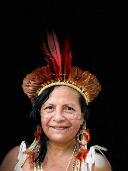 Marcivana Sateré-Mawé, uma das líderes indígenas que participou na reunião pré-sinodal, em Manaus