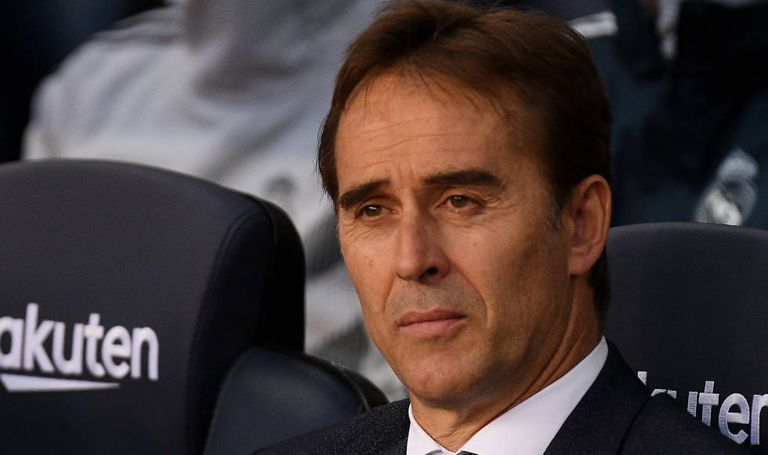 Julen Lopetegui, durante o clássico do domingo no Camp Nou.