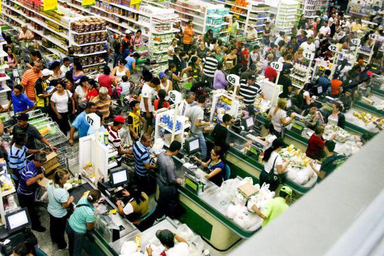 Um supermercado de San Cristóbal, colapsado.