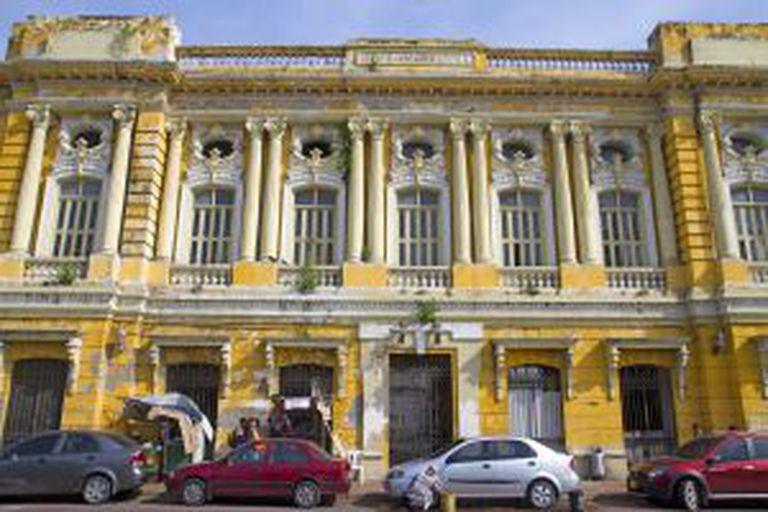 Um edifício no bairro de Getsemaní, em Cartagena das Índias.