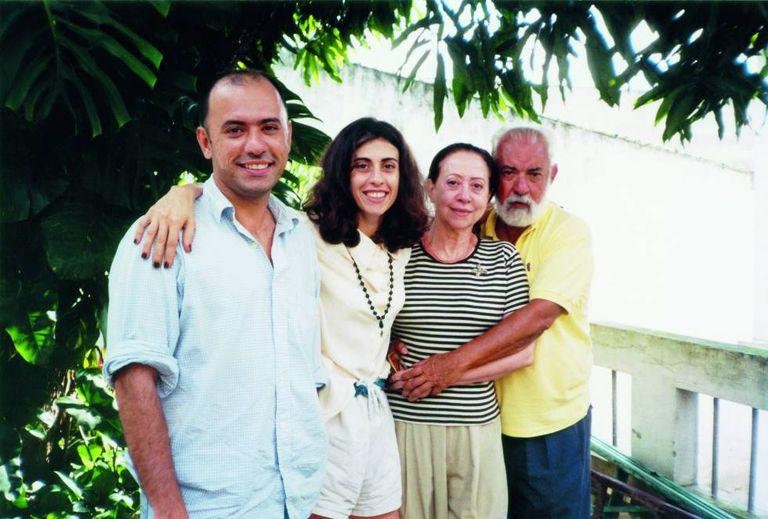 Foto em família, em 2000.