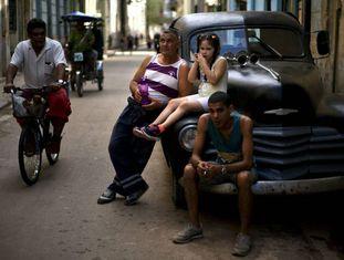 Cena de uma rua de Havana na quarta-feira passada.