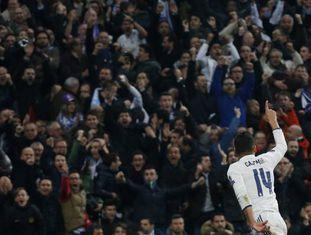 O brasileiro Casemiro fez o terceiro e último gol do Real Madrid.