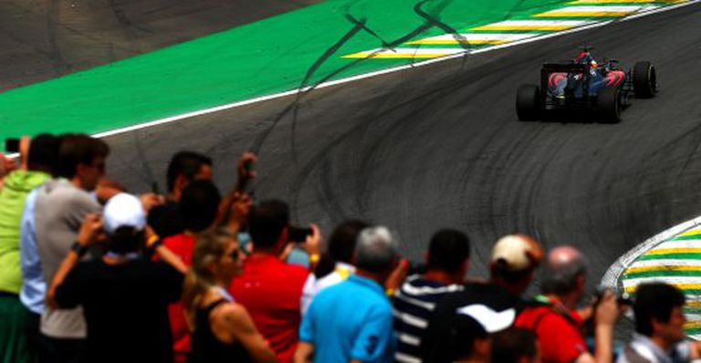 Fernando Alonso, durante o GP do Brasil.