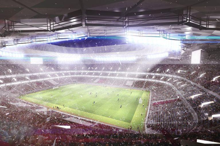 Reprodução do futuro estádio Qatar Foundation.