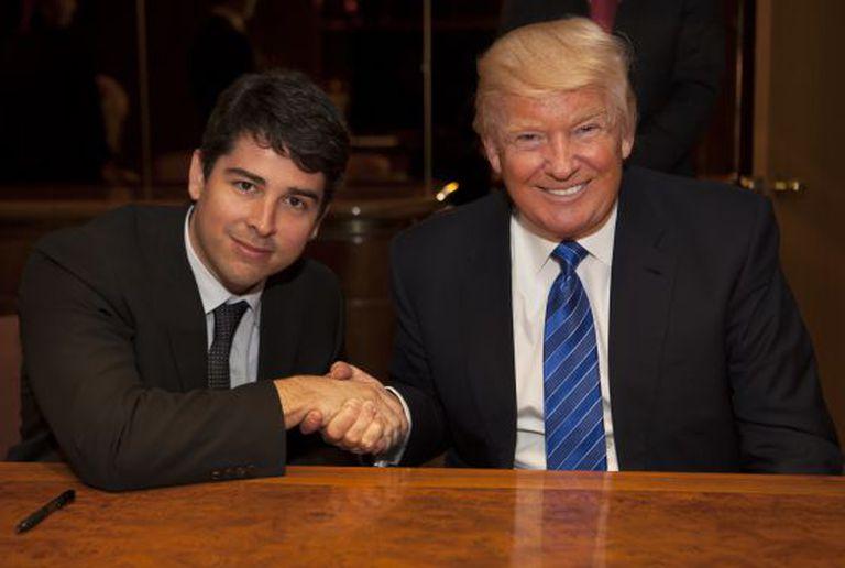 Paulo Figueiredo e Donald Trump.
