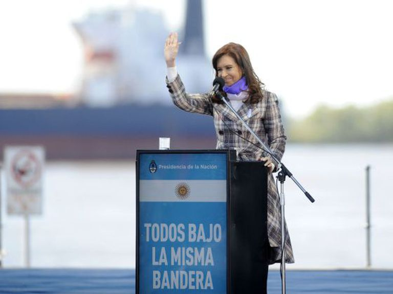 Cristina Fernández de Kirchner, nesta sexta, em Rosário.