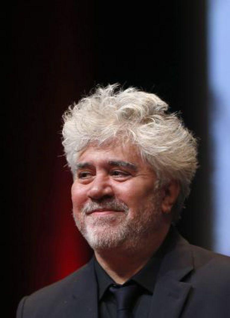 Almodóvar em 2014, ao receber um prêmio na França.
