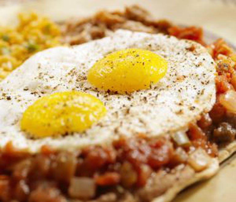 Ovos rancheros, café da manhã habitual no D.F: