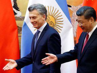 O presidente da China, Xi Jinping, durante uma visita à Argentina.