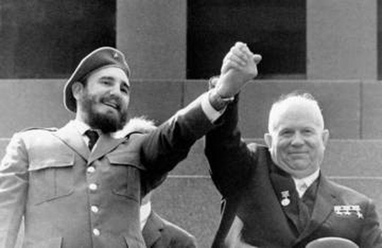 Fidel Castro e Nikita Khruschev