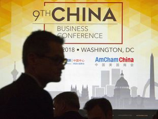 Conferência sobre negócios com a China em Washington, em maio, evento do qual participou o representante comercial dos EUA, Robert Lighthizer. Em vídeo, a China responde às novas tarifas de Trump.