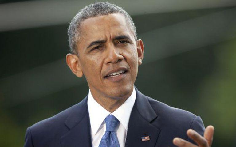O presidente Obama discursa na Casa Branca.
