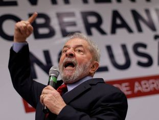 O ex-presidente Lula em evento do PT.