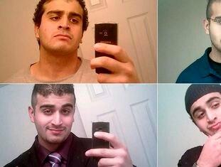 Autorretratos do assassino de Orlando, Omar Mateen.