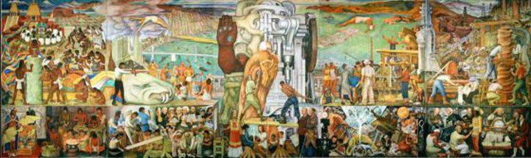Fragmento de Unidade Panamericana,de Diego Rivera.