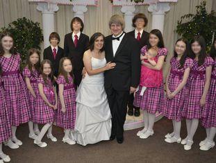 Louise Anna e David Allen Turpin com seus filhos
