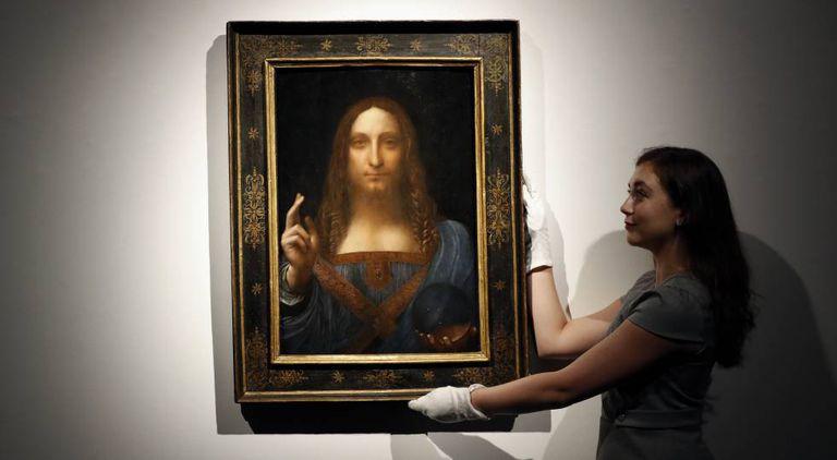 'Salvator Mundi', atribuído a Leonardo da Vinci.