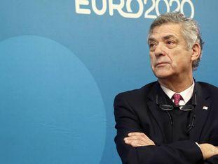 O presidente da Federação Espanhola de Futebol, Ángel María Villar.