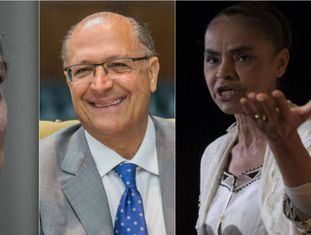 Ciro, Alckmin e Marina: embolados em segundo lugar nas pesquisas sem Lula.