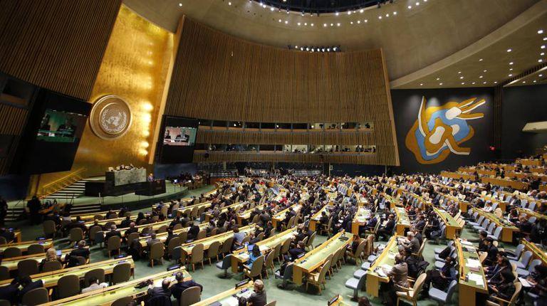 Plenário da Assembleia Geral das Nações Unidas.
