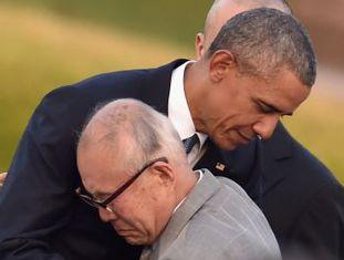 Presidente é o primeiro mandatário dos Estados Unidos em exercício a visitar a cidade, bombardeada em 1945 no final da Segunda Guerra Mundial