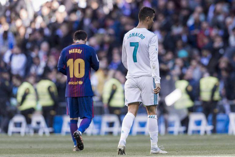 Messi e Cristiano Ronaldo, no clássico de dezembro passado no Bernabéu.