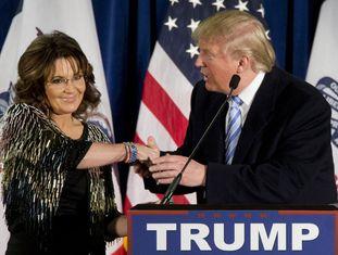 Palin e Trump, em encontro na última terça em Iowa.