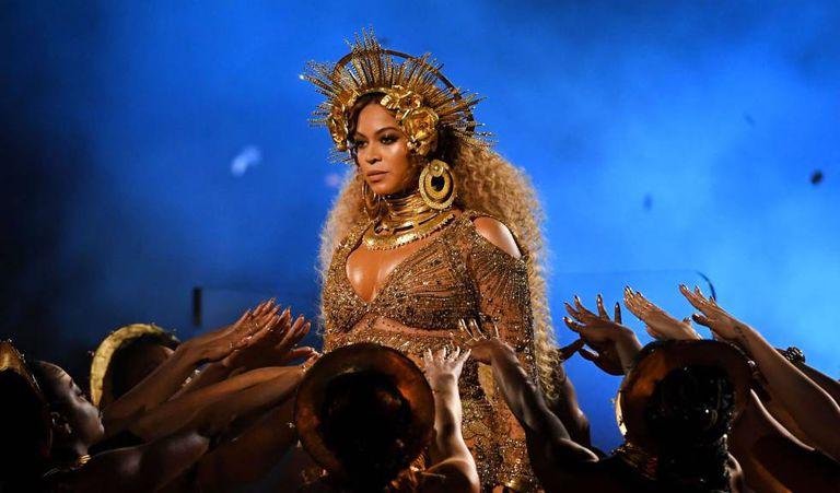 Beyoncé, durante sua apresentação.