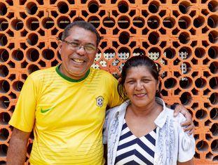 O diácono permanente Afonso Brito, e sua esposa, Socorro Oliveira, em Manaus