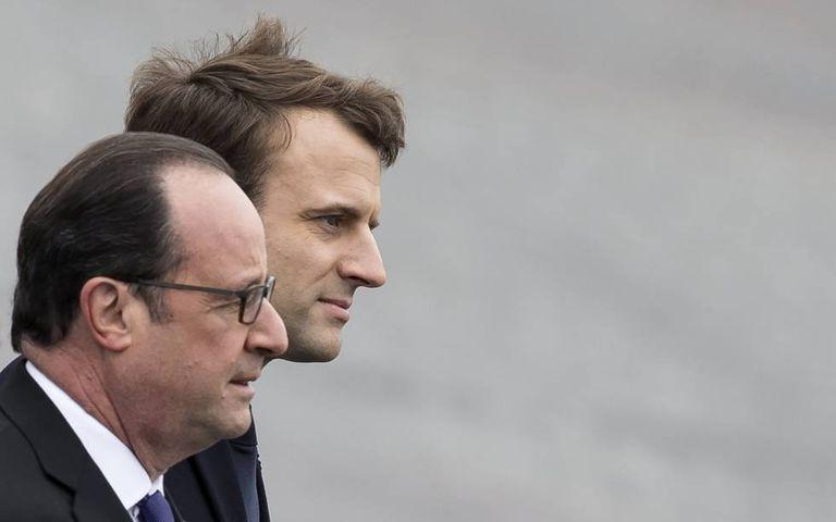 François Hollande e Emmanuel Macron