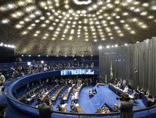 Vista geral do Senado brasileiro.