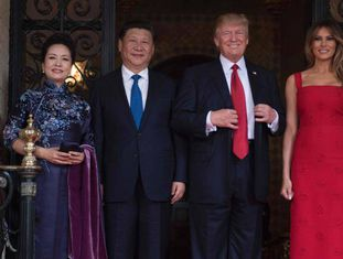 Xi Jinping com Donald Trump