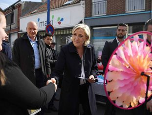 Marine Le Pen, neste domingo em Hénin-Beaumont.