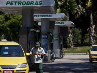 Posto de gasolina de Petrobras no Rio de Janeiro
