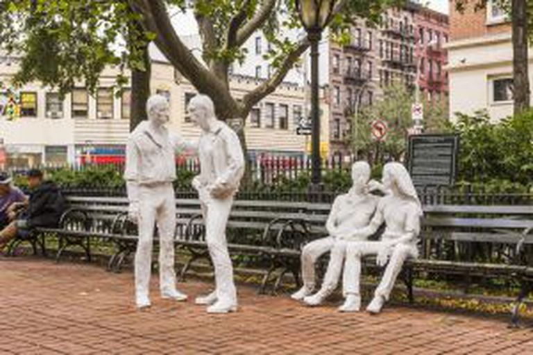 Monumento à libertação do coletivo gay no Christopher Park, em Nova York.