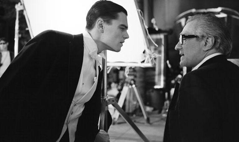 Leonardo DiCaprio e Martin Scorsese, em 'O aviador'.