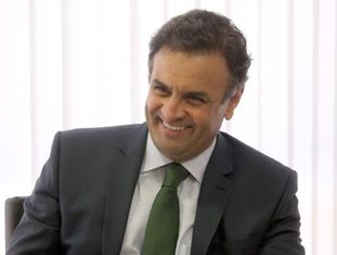 O candidato do PSDB Aécio Neves.