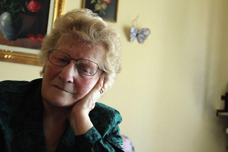Luto sem fim: Romana Blasotti Pavesi, em seu apartamento, na cidade italiana de Casale Monferrato