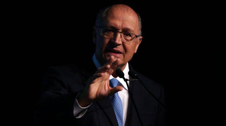 Geraldo Alckmin, durante o Única Foro, no dia 18 de junho de 2018.