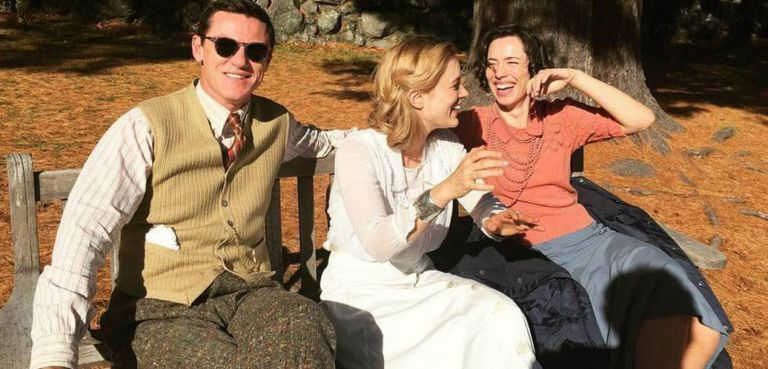 O trio protagonista do filme 'Professor Marston & the wonder women'.