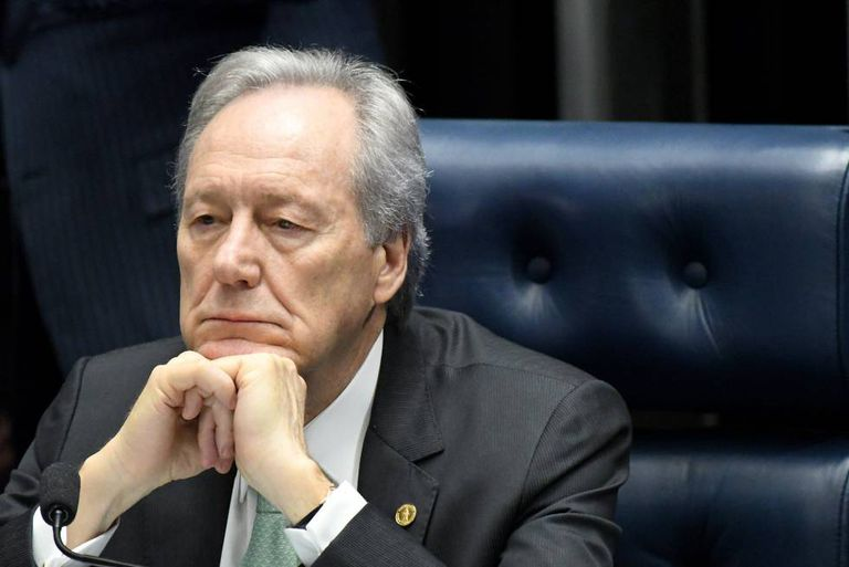 O presidente do Supremo, Ricardo Lewandowski, na maratona do Senado.