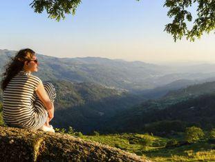 Panorâmica no parque nacional de Peneda-Gerès, ao norte de Portugal.