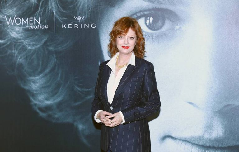 Susan Sarandon, durante o ato em Cannes 'Women In Motion'.