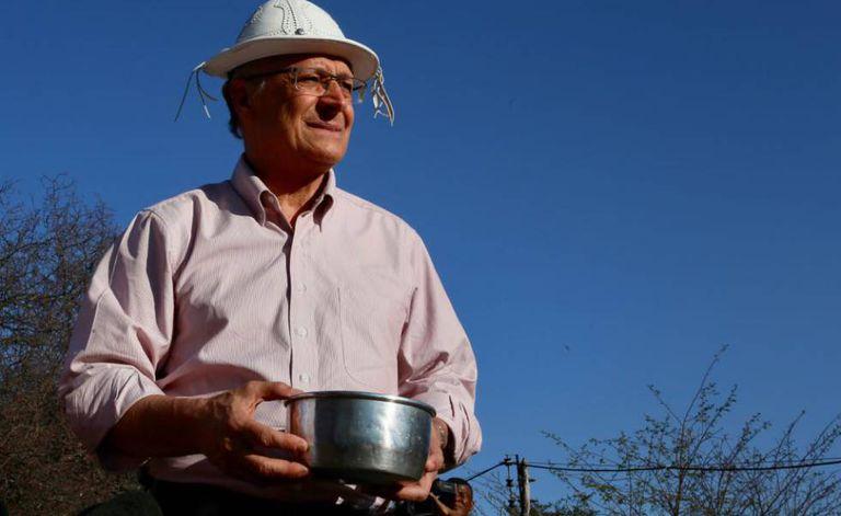 Alckmin durante viagem a Petrolina, em Pernambuco, nesta quinta-feira.