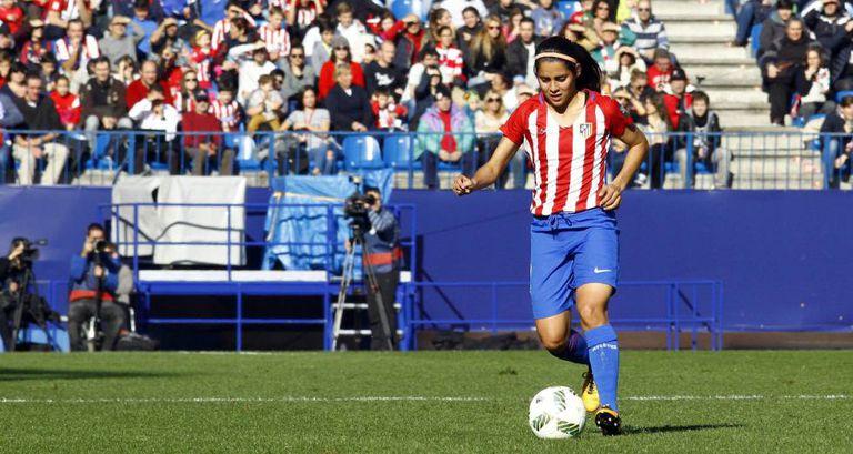 Kenti Robles, em atuação pelo Atlético.