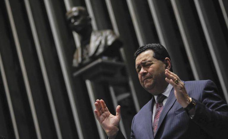 Presidente da Assembleia de Deus no Amazonas, pastor Jonatas Câmara participa de homenagem aos 100 anos da igreja no Senado em novembro de 2017.