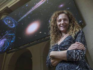 Amina Helmi, astrônoma, fotografada na Fundacion BBVA Carlos Rosillo