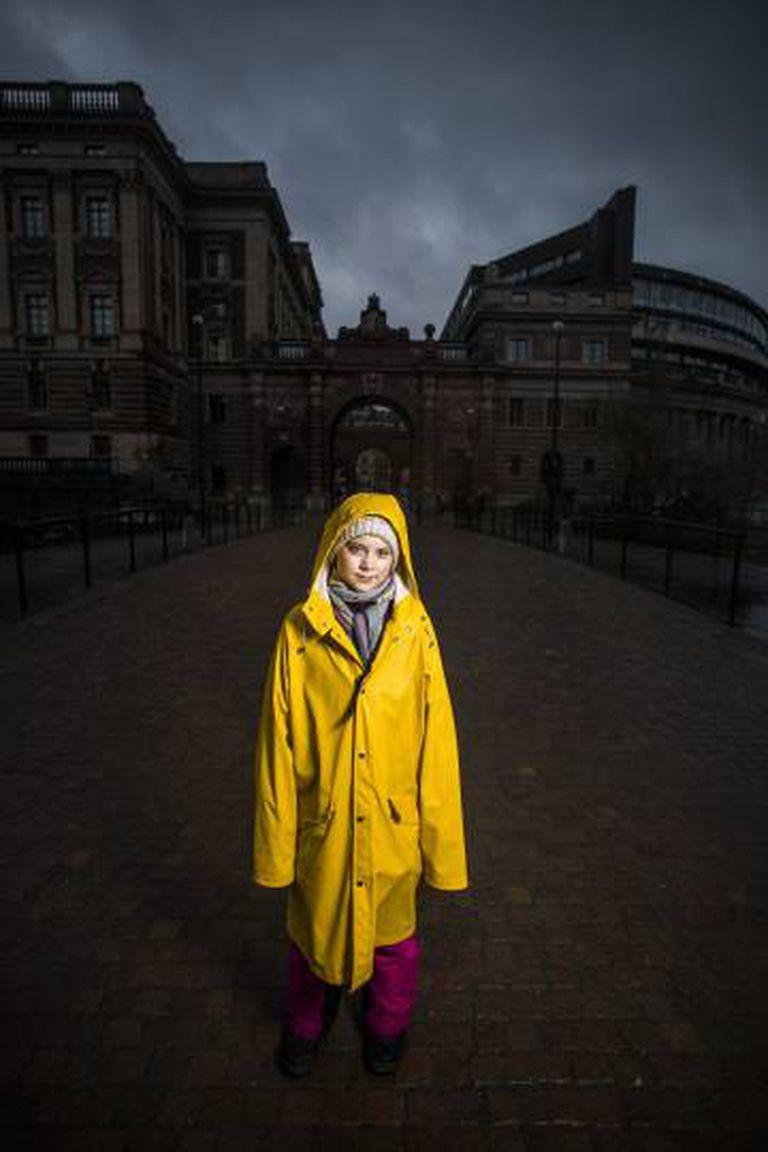 Greta Thunberg, nesta sexta-feira em Estocolmo.